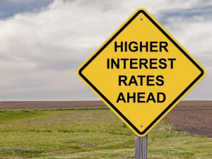 Caution Sign - Higher Interest Rates Ahead