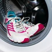 Frontload washer and tennis shoes