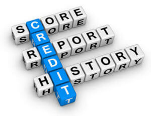 Scrabble tiles CREDIT played words SCORE REPORT HISTORY