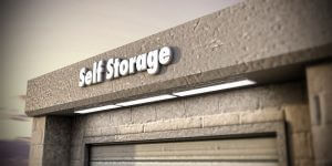 illustration of a self storage unit