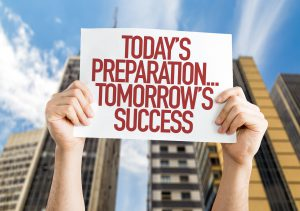 Today's Preparation... Tomorrow's Success! placard