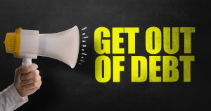 Get Out of Debt sign