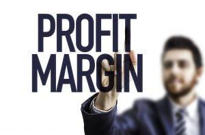 Profit Margin sign